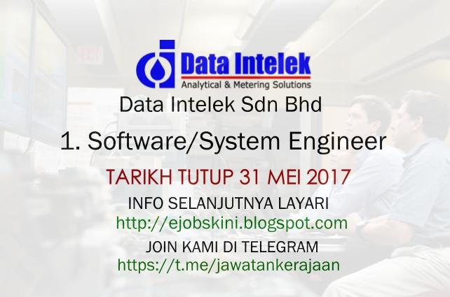 Jawatan Kosong Terkini Sebagai Software/System Engineer