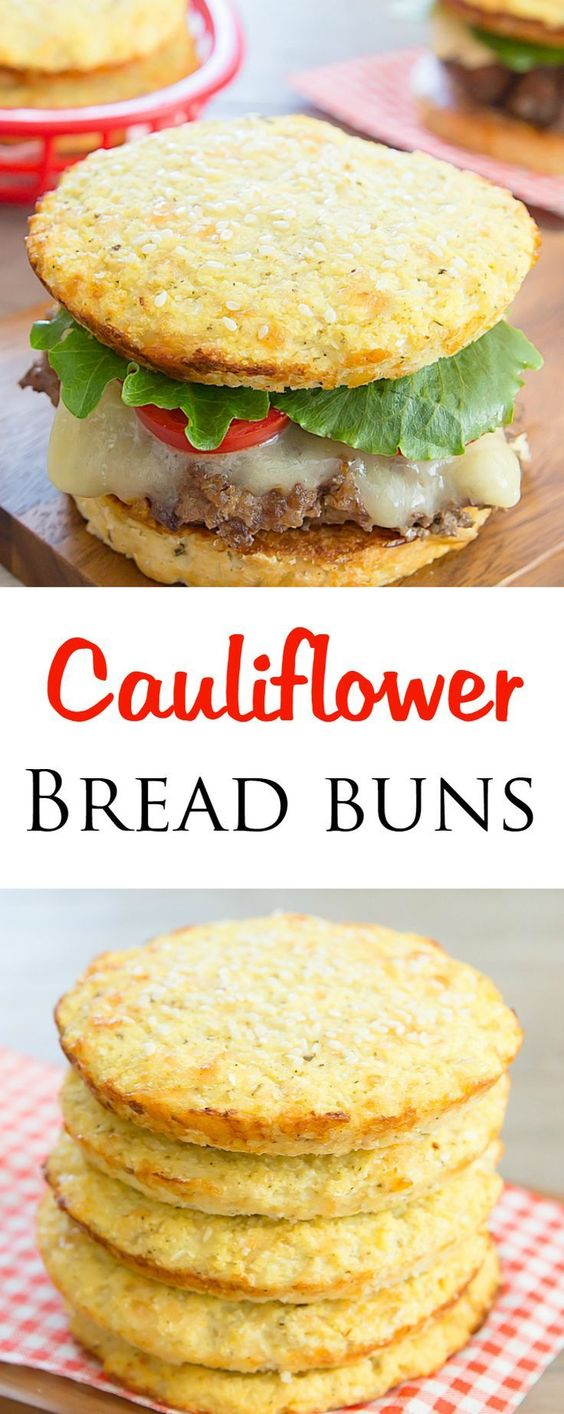 CAULIFLOWER BREAD BUNS #cauliflower #bread #buns #healthyfood #healthyrecipes #healthysnack #snackrecipes #easysnackrecipes