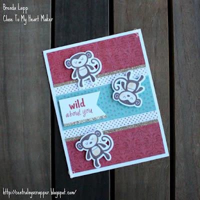 Valentine's Card with Sweet Safari & Heartstrings