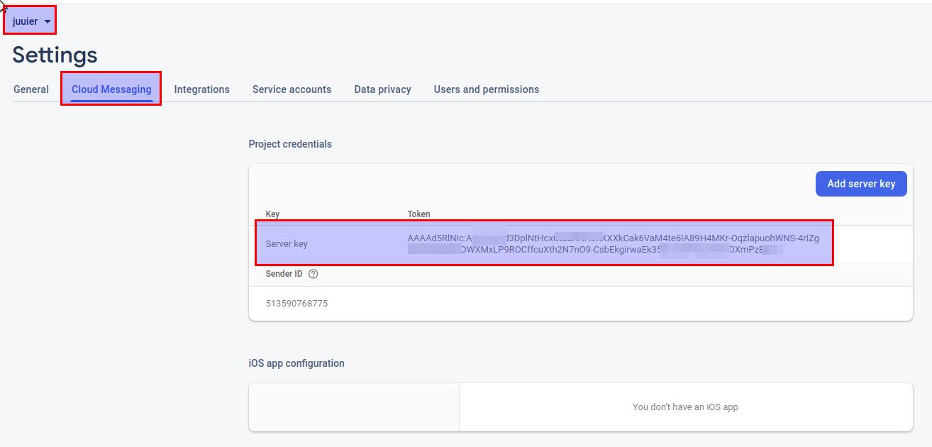 WeB LoG'S JuUiER: สั่งให้ส่งข้อความด้วย Cloud Messaging (Firebase Service) ด้วย PHP