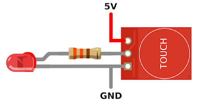 TTP223 Capacitive Touch Sensor Switch Tutorial