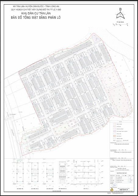 Bản đồ 1.500 dự án Tân Lân Residence
