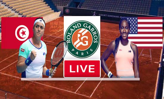 Match Tennis Ons Jabeur vs Cori Gauff Live Stream In Roland Garros