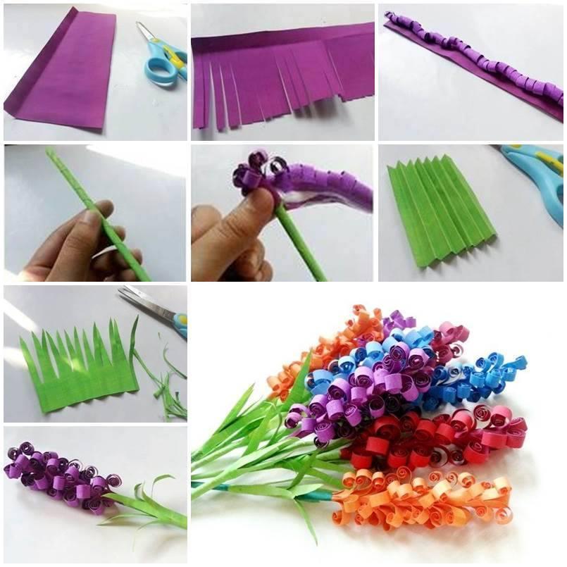 Cara Membuat Bunga Dari Gulungan Kertas Warna