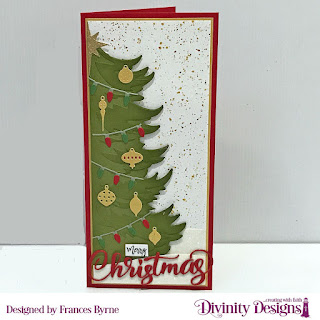 Custom Dies: Christmas Tree Table Top Home Decor, Merry Christmas