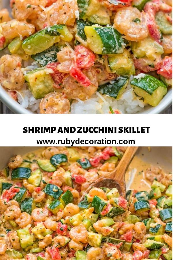 SHRIMP AND ZUCCHINI SKILLET