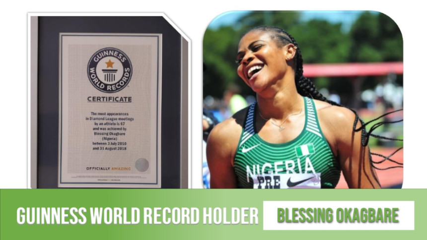 Nigerian Blessing Okagbare Won Guinness World Record In Athlete