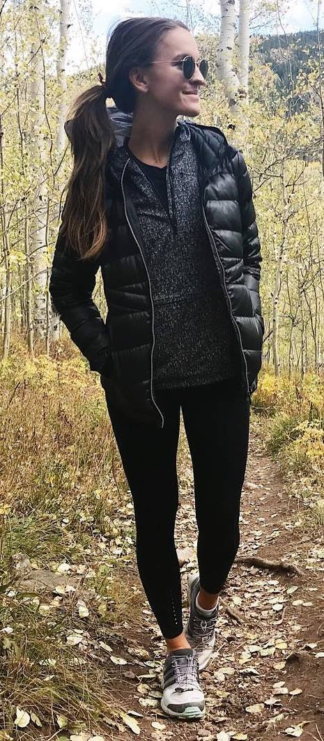 fall inspiration _ jacket + sweater + skinnies + swneakers