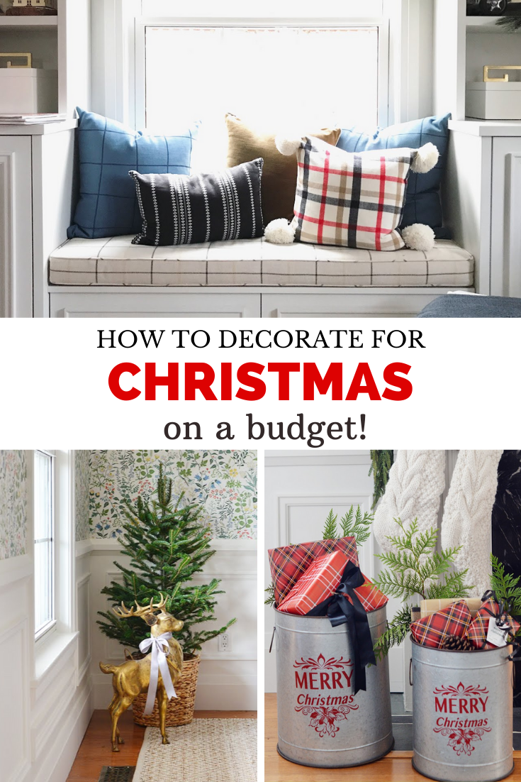 how to decorate for christmas on a budget, cheap christmas decorating, christmas decor on a budget