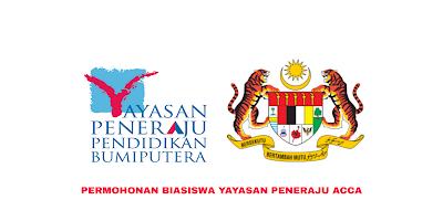 Permohonan Biasiswa Yayasan Peneraju ACCA 2020 Online