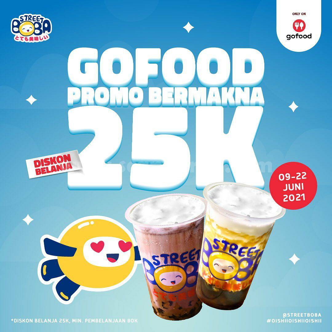 Street Boba Promo Gofood Diskon Belanja hingga Rp. 25.000