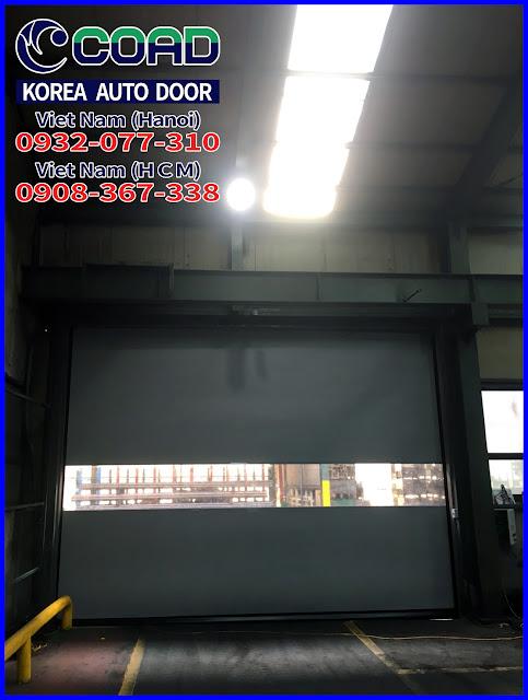 Cửa cuốn tốc độ cao, cửa siêu tốc, cửa cuốn công nghiệp, cửa tự động Hàn Quốc, COAD
