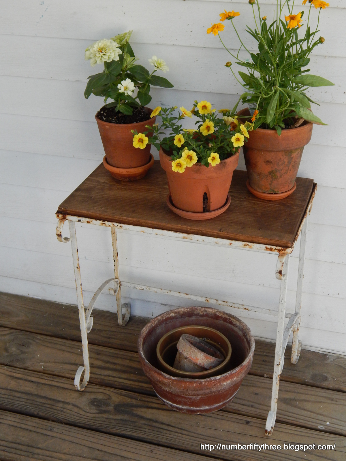 Wood And Metal Plant Stand Number Fifty Three Rustic Wood And Metal Plant Stand