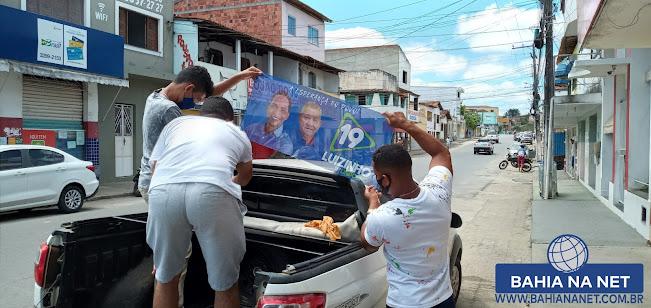 ITAGIMIRIM: Adesivaço marca 1º dia de campanha eleitoral do candidato Luizinho 5