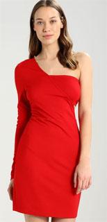 vestido de nochevieja asimétrico con corte lateral 2018