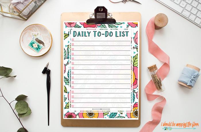 Daily To Do List Printable