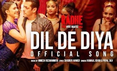 Dil De Diya Lyrics - Radhe - Download Video or MP3 Song