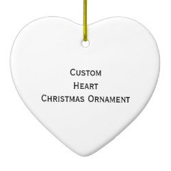 Custom Heart Photo Christmas Ornament