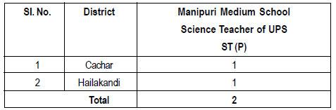 Manipuri Medium School Science Teacher of UPS