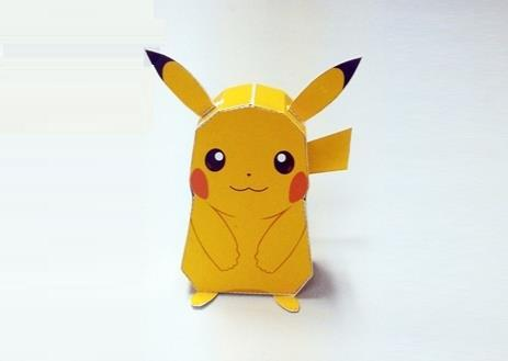 This easy-to-build paper toy version of Pikachu was created by Thai ...