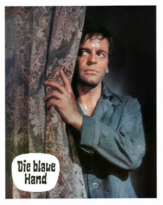 Creature with the Blue Hand, lobby card, Klaus Kinski, Edgar Wallace