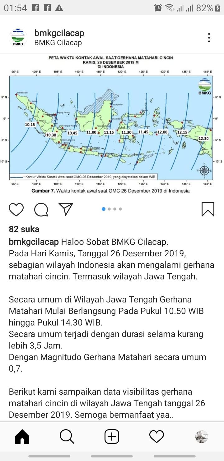 Catat! Gerhana Matahari Cincin 26 Desember 2019 Bisa Dilihat di Kebumen
