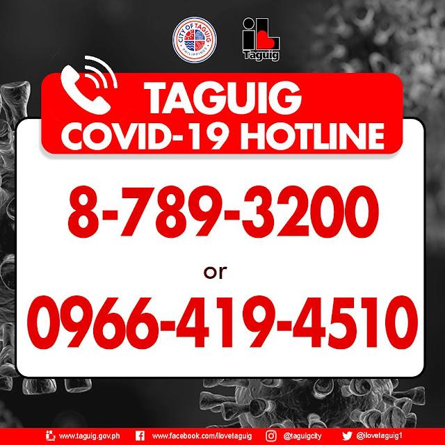 Taguig COVID-19 hotline