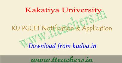 KU PGCET notification 2018, kucet application form 2018