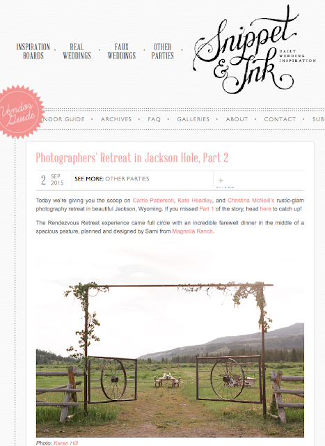Published, Snippet and Ink, Rendezvous Retreat, Jackson Hole, WY