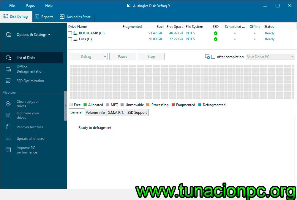 Auslogics Disk Defrag Pro con Licencia