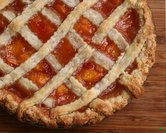 July - First-Prize Peach Pie with Lattice Crust