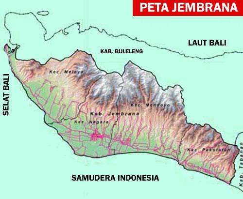 Gambar Peta Jembrana dan Kecamatan