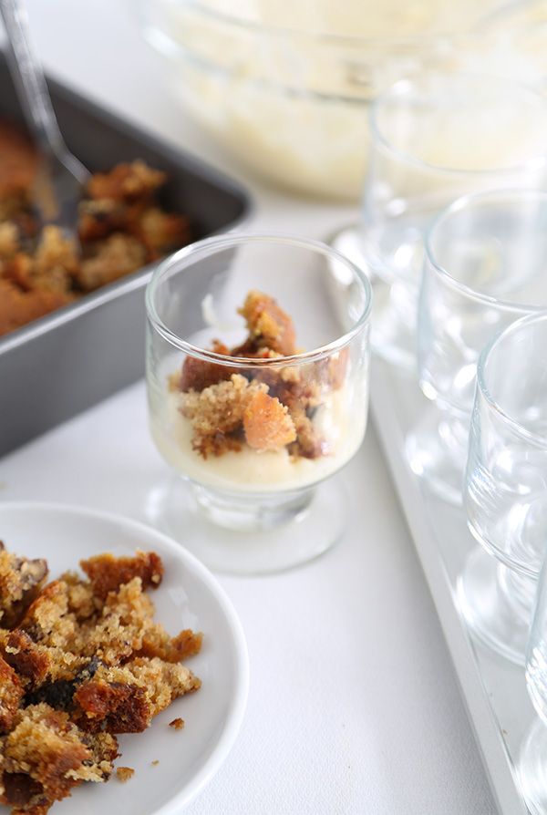 Spiced Rum Cake Mini Trifles