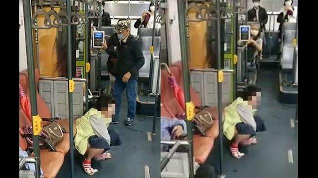 Menjijikan, Tanpa Malu Wanita Lepas Celana Dalam Bus, Lalu Buang Air Besar di Depan Penumpang