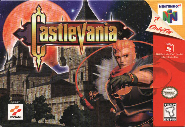 Castlevaia 64-cover game/ top game n64