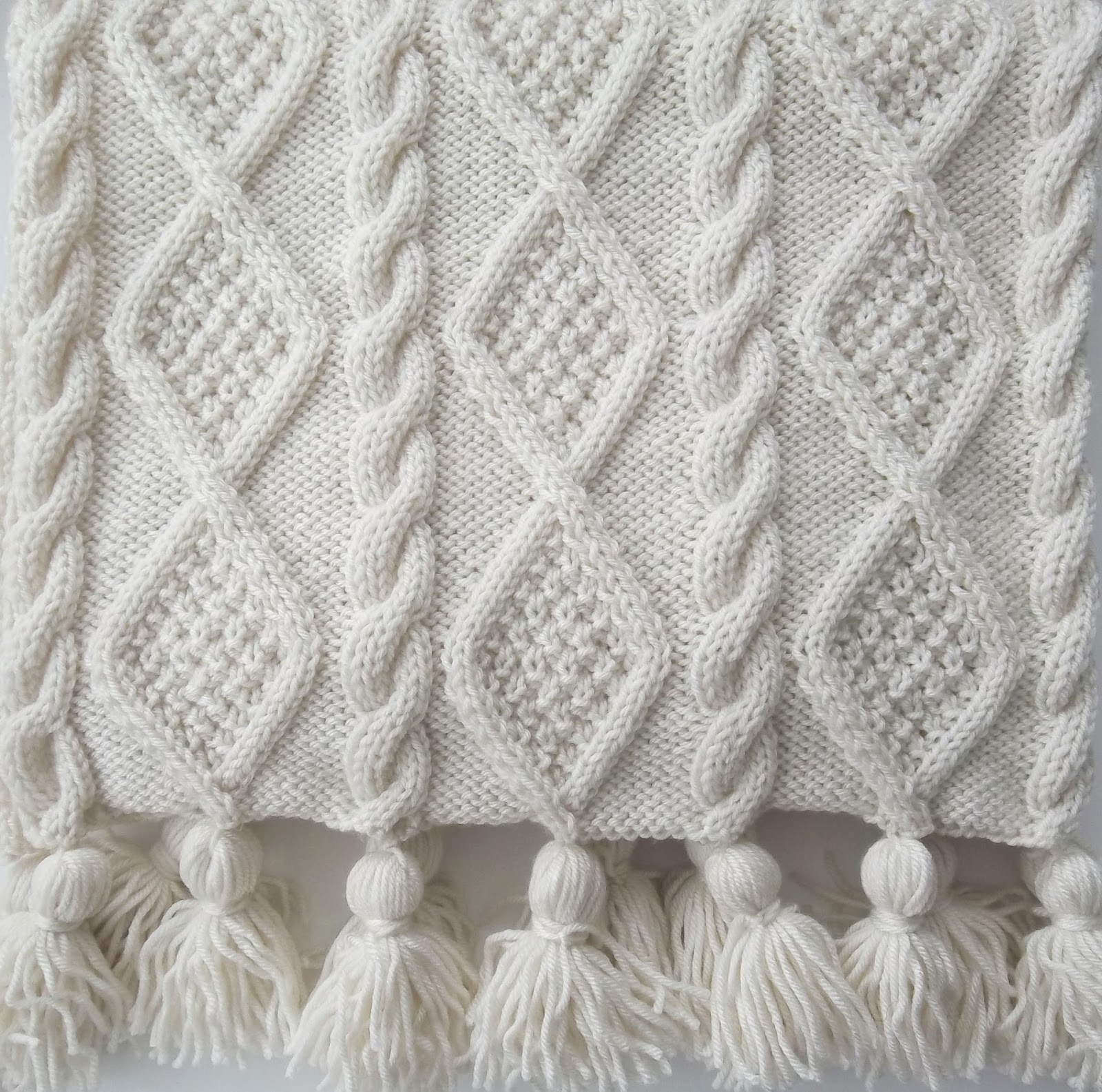 Aran Cable Scarf and Throw Knitting Pattern