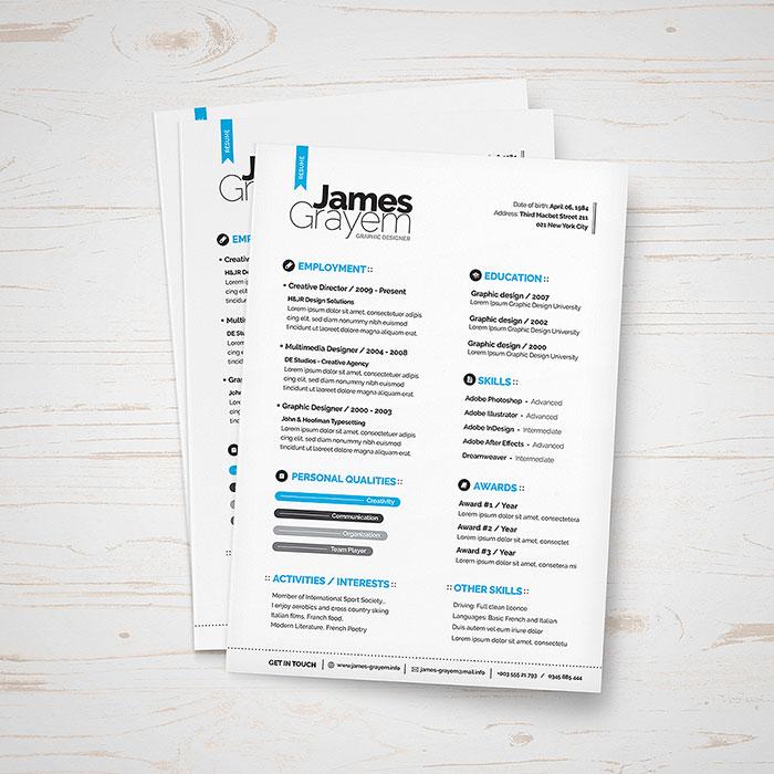 Free Resume + Cover Letter / CV Template