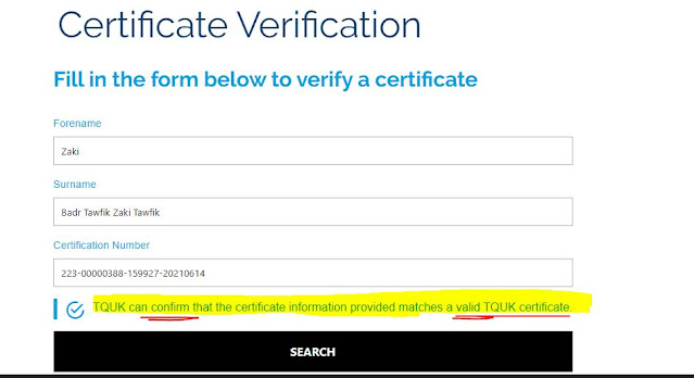 How to  verify  a valid TEFL certificate in OFQUAL