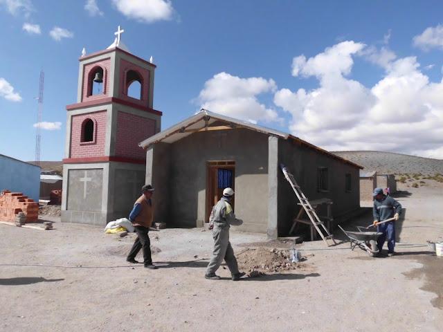 Der Bau der Kapelle ist schon weit fortgeschritten