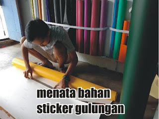 bahan sticker gulungan