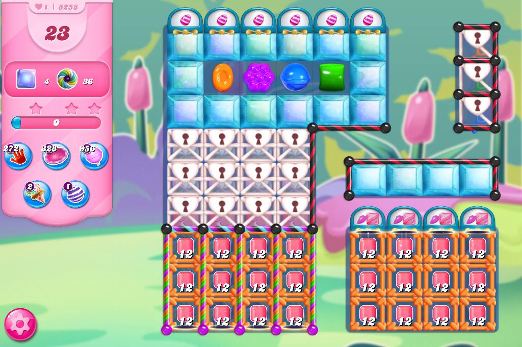 Candy Crush Saga level 8258