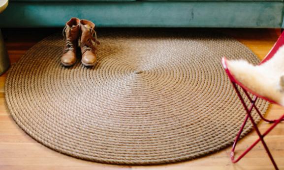 Tappeti Fai Da Te Stoffa : Blizzy glizzy: tappeto rotondo in corda fai da te