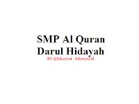 Lowongan Kerja SMP Al Quran Darul Hidayah Terbaru