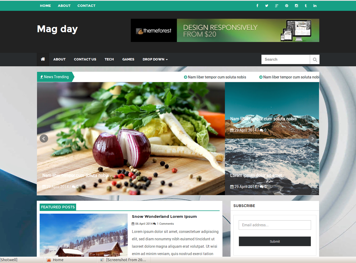 MagDay Responsive Blogger Template
