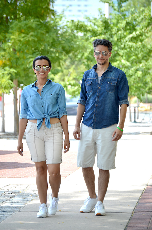 Wearing:  Marisol Shorts/Pantalones cortos: Romwe Tshirt/Camisa: Yoins Shoes/Zapatillas: Reebok Classic  Mauricio Shorts/Pantalones cortos: GAP Tshirt/Camisa: Macy's Shoes/Zapatillas: Reebok Classic