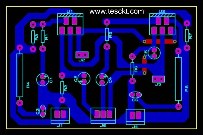 tda2030 stereo amplifier pcb