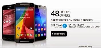 (Over) Extra Rs.1000 OFF on Mobile Handsets / Tablets on EMI with SBI Cards @ Flipkart (Offer Valid for 48 Hours)