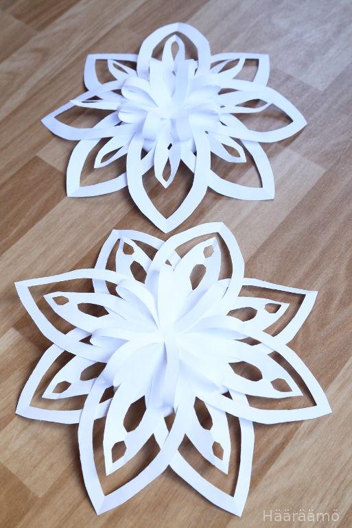 Lumitähti paperista 3D tutorial
