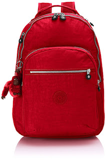 DEALS UNDER 50 Pound Kipling BackPack, colour : Red , Jazzy Blue, Mini Geo. LIMITED