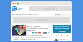 Masign Clean Blogger Template Free Download |